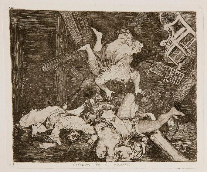 """Goya. Desastres de la Guerra. nº30 """"Estragos de la Guerra"""""""