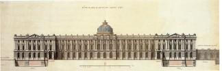 Fachada principal del primer proyecto del Palcio Real en el Buen Retiro de Robert de Cotte