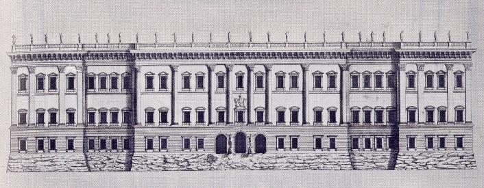 Bernini. Fachada del tercer proyecto para e Louvre. 1665