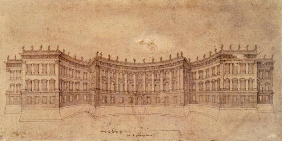 Bernini. Segundo proyecto para el Louvre