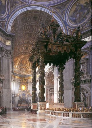 Gian Lorenzo Bernini. Baldaquino de San Pedro del Vaticano. Roma