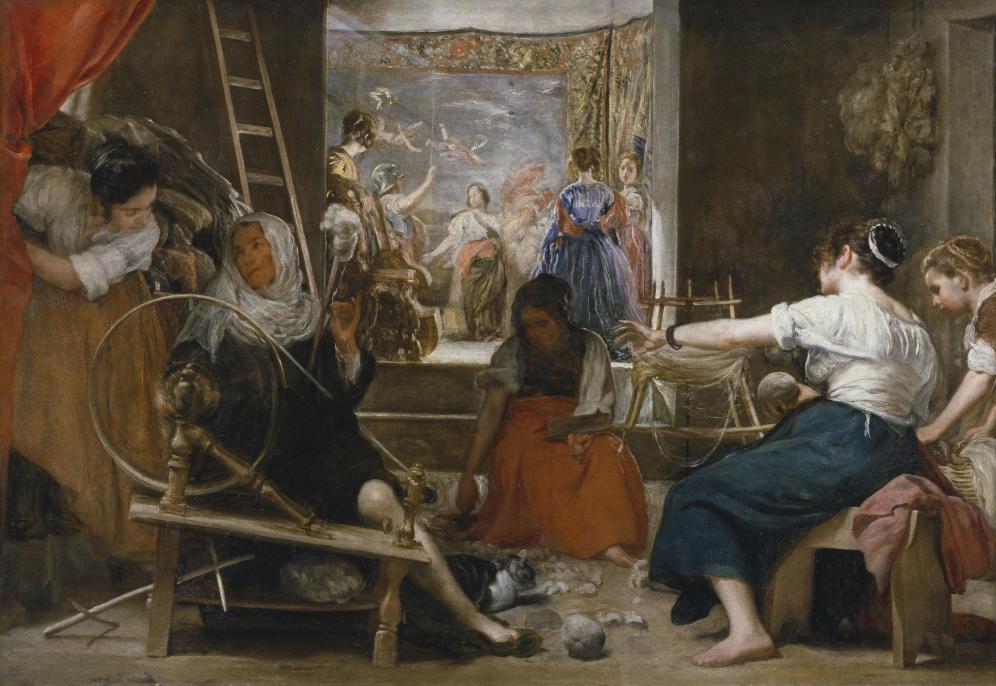 Diego Velázquez. Las hilanderas o fábula de Aracne. ca. 1655-60. Museo del Prado