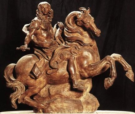 Gian Lorenzo Bernini. Luis XIV a caballo. Boceto en Terracota. ca.1667. Galleria Borghese. Roma