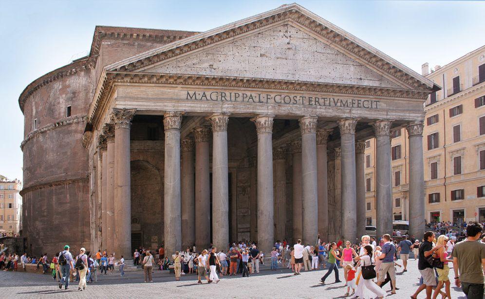 Fachada del Panteón de Roma [foto: wikipedia]