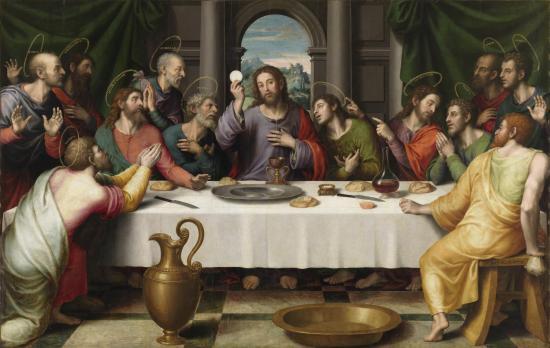 Juan de Juanes. La Última Cena. Museo del Prado
