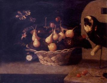Baltasar Gómez Figueira. Bodegón de frutas y flores.