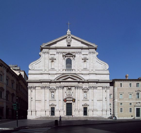 Giacomo della Porta. Fachada de la iglesia del Gesù. Roma. Foto: Wikipedia