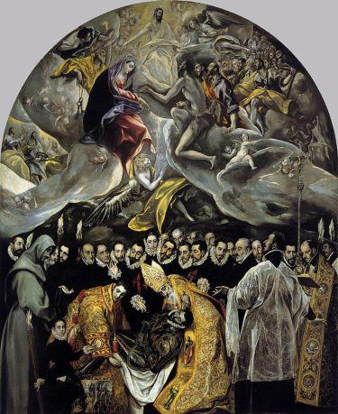 El Greco. El entierro del señor de Orgaz. foto: wikipedia