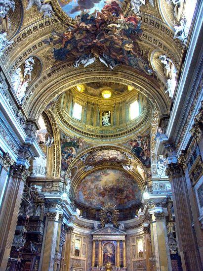 Iglesia del Gesù. Vista interior. Roma. Foto: Wikipedia
