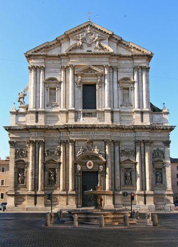 Carlo Maderno. Fachada de Sant'Andrea della Valle. Roma. Foto: Wikipedia