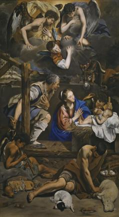 Juan Bautista Maíno. Adoración de los Pastores. Museo del Prado