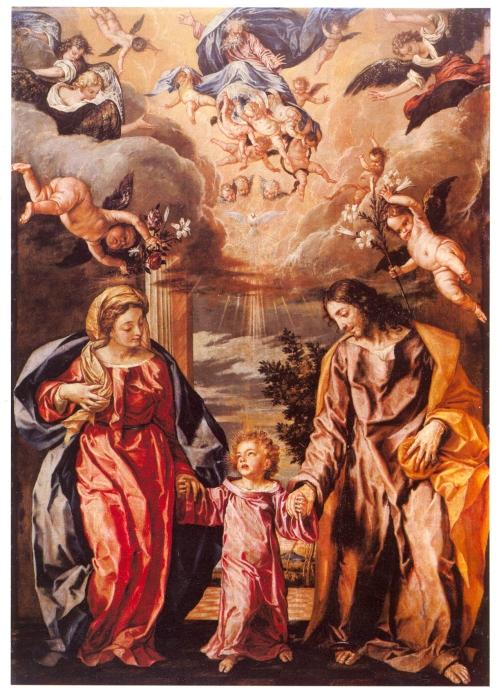 Sagrada familia o las dos Trinidades. Colegiata de San Isidro. Madrid
