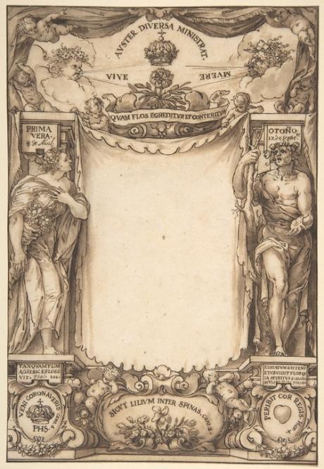 Diseño de la portada para las Exequias de Felipe IV. Met. Mus. Nueva York.