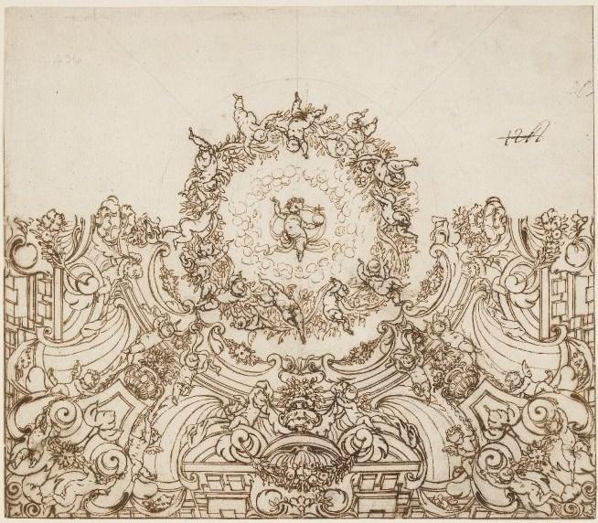 Proyecto de decoración de quadratura para un techo. British Museum. Londres