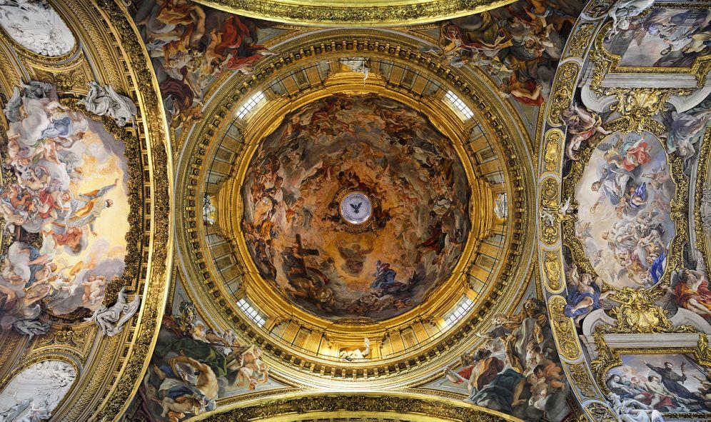 """Giovanni Battista Gaulli """"il Baciccia"""". Cúpula de la iglesia del Gesù. Roma. Foto: Wikipedia"""