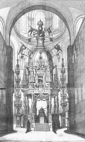 Túmulo de Felipe IV en la iglesia del convento de la Encarnación