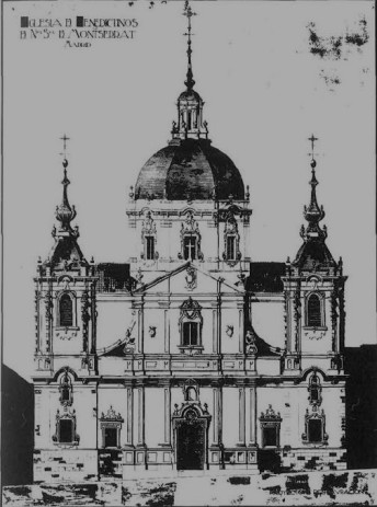 Iglesia de Montserrat según reconstrucción hipotética de Gato Soldevilla