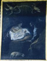 Adoración de los Pastores. Ático del retablo de Ntra. Sra. de la Paz. Getafe