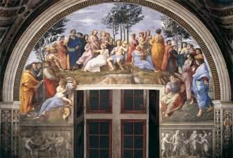 Rafael. El Parnaso. Stanza della Segnatura. Palacios Vaticanos. Roma. Foto: web gallery of art