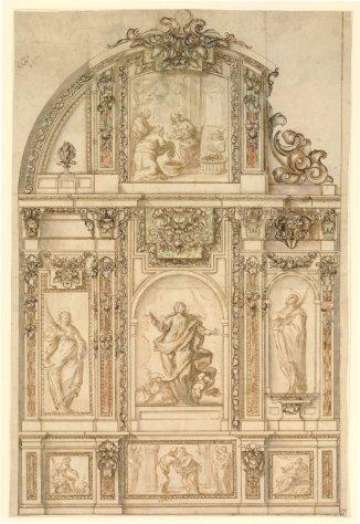Proyecto de Retablo para una Inmaculada. British Museum. Londres