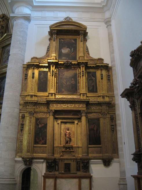 Retablo de la Virgen de la Paz. Catedral de Santa María Magdalena. Getafe. Adoración de los pastores en el ático.