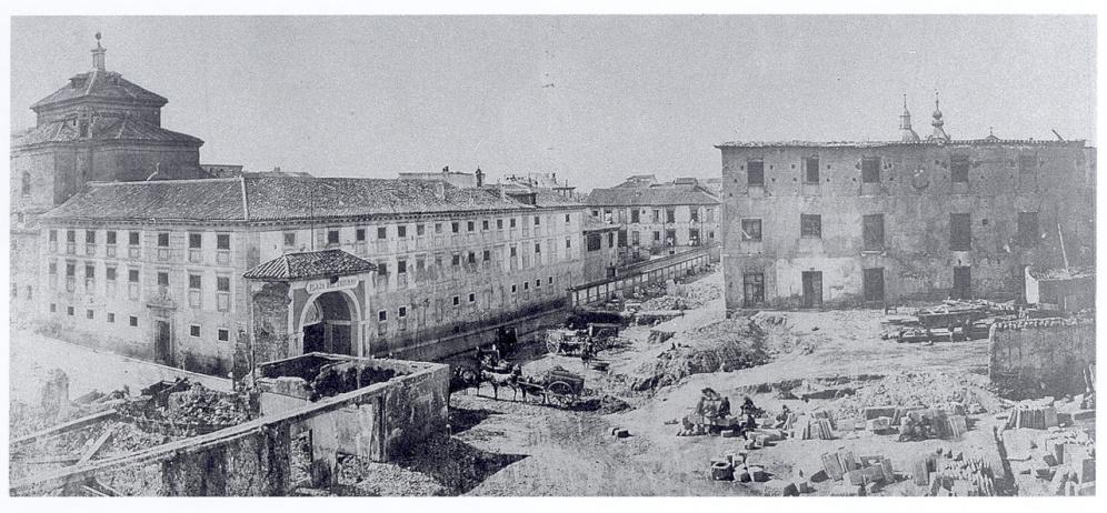 Palacio Monteleón, transformado en Parque de Artillería. s. XIX. foto: Museo del Ejército.