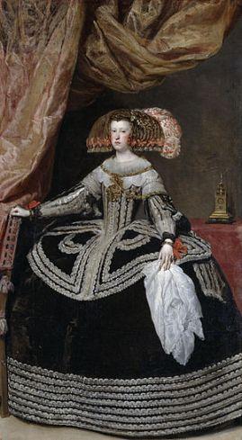 Diego Velázquez. Mariana de Austria. ca. 1653. Museo del Prado.