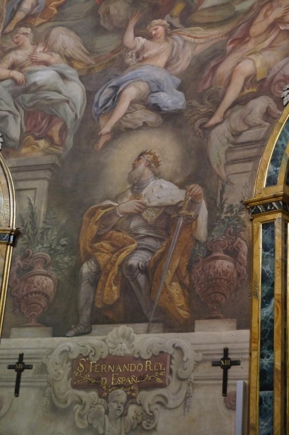 Luca Giordano. Detalle de los frescos del muro de San Antonio de los Portugueses.