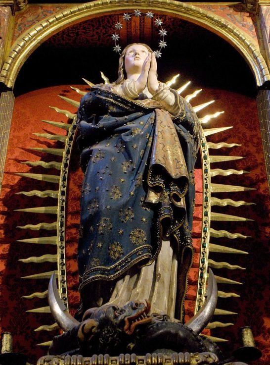 Antonio de Herrera Barnuevo. Inmaculada Concepción. Catedral de Segovia. Foto: Wikipedia.