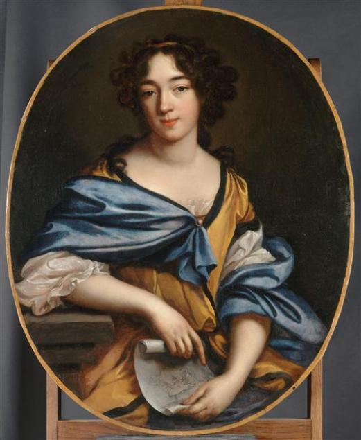 Élisabeth Sophie Chéron. Autorretrato. 1672. Museo del Louvre. París.
