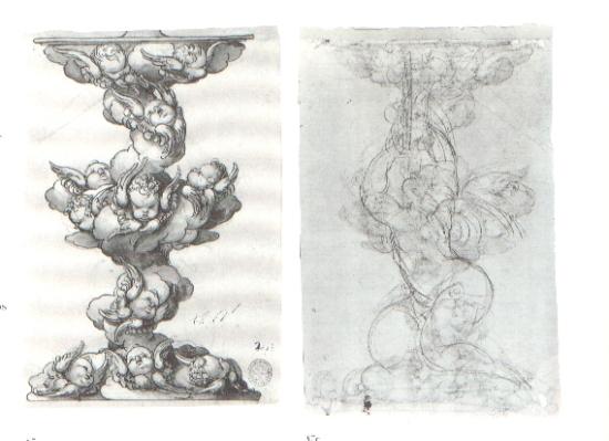 Sebastián de Herrera Barnuevo. Diseño de pedestal (anverso y reverso). BNE