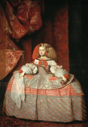 Juan Bautista Martínez del Mazo. La infanta Margarita. Museo del Prado.