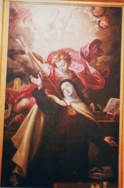 Anónimo madrileño (cercano a Francisco Rizi). Éxtasis de Santa Teresa. Museo de Guadalajara. Foto: @cipripedia