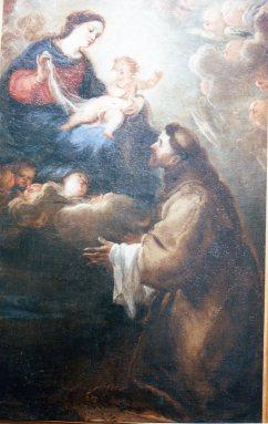 Juan Carreño de Miranda. Aparición de la Virgen y el Niño a San Francisco. Museo de Guadalajara. Foto: @cipripedia