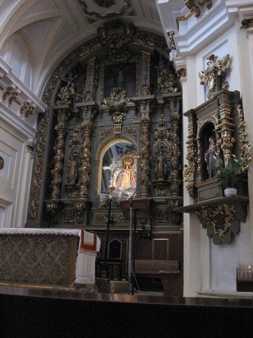 Retablo-camarín de la Virgen