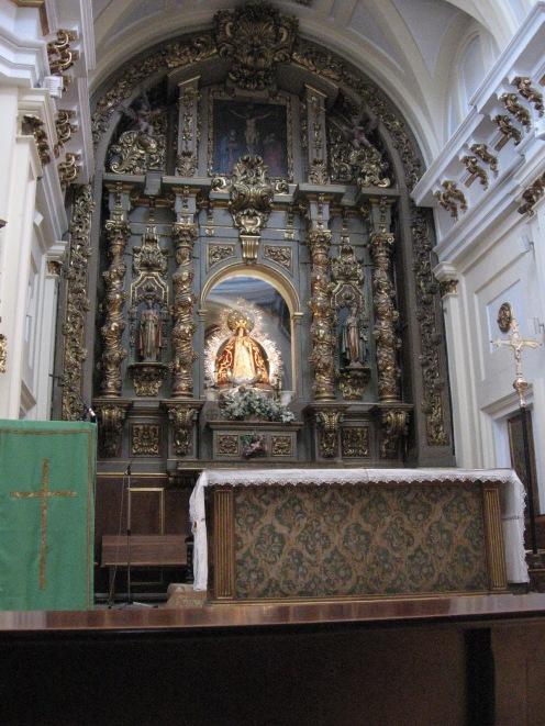 Retablo Camarín de la Virgen.