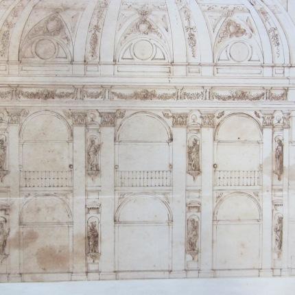 Detalle de la decoración de la capilla