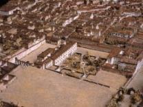 Palacio de Monteleón en la maqueta de León Gil de Palacio. ca. 1830
