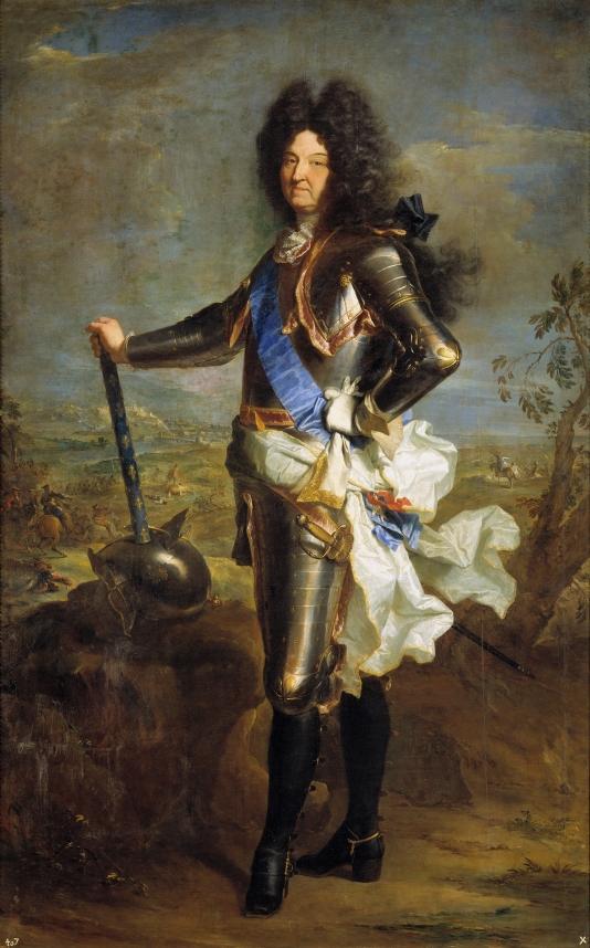 Hyacinthe Rigaud. Luis XIV. 1701. Museo del Prado