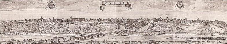 Vista de Madrid desde el puente de Segovia. s. XVII