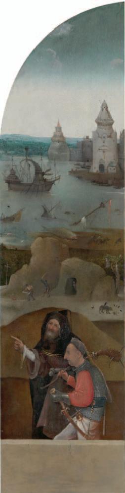 Tríptico de santa Wilgefortis. ca. 1495-1505. Galería de la Academia. Venecia. Detalle tabla derecha.