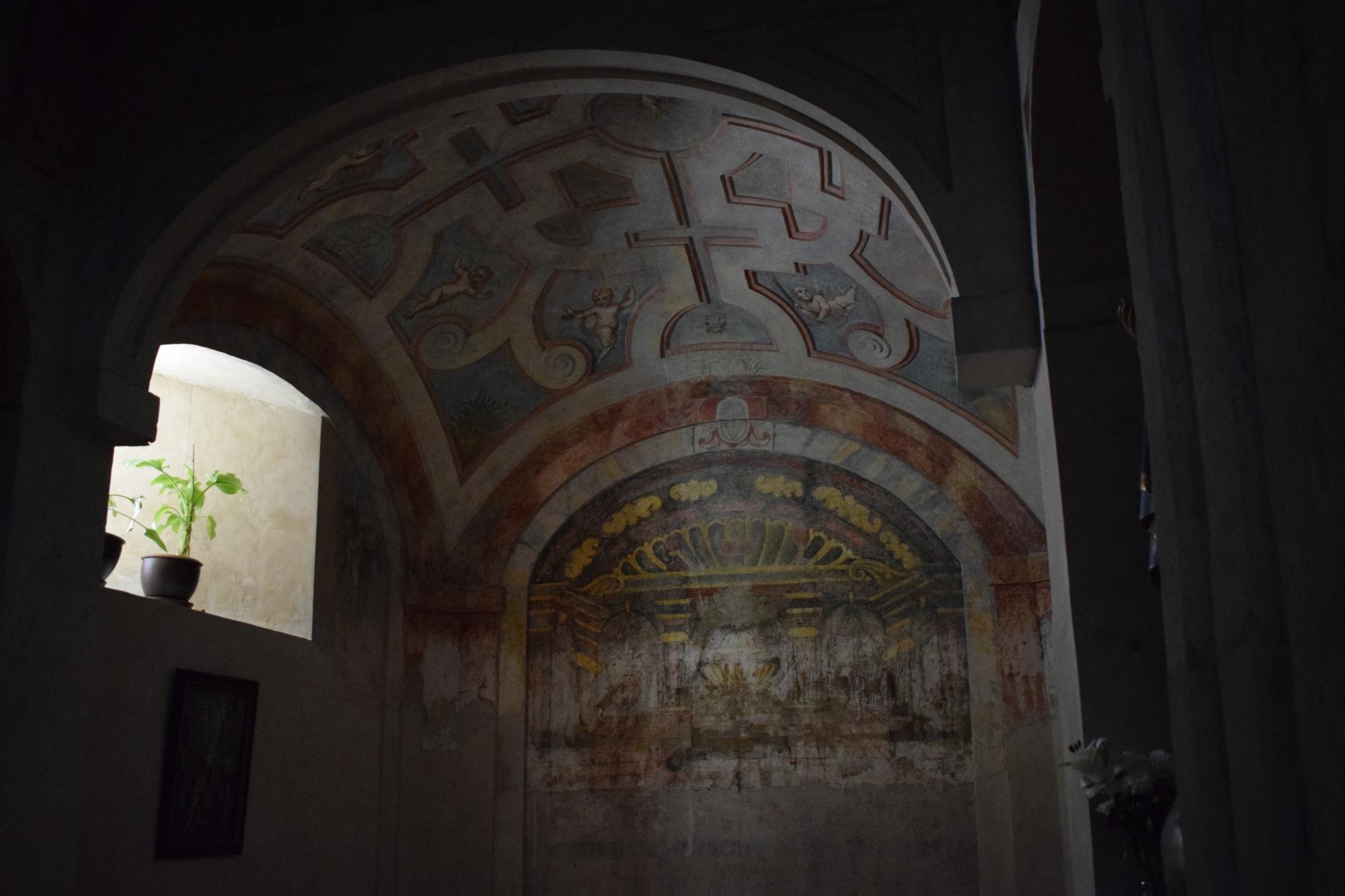Bóveda vaída de la capilla de la torre nueva