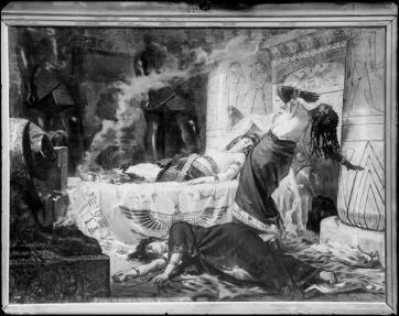 J. Laurent y Cía. La muerte de Cleopatra de J. Luna. Archivo Ruiz Vernacci. foto: IPCE