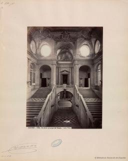 J. Laurent. Escalera imperial del Palacio Real Nuevo. Foto: BNE