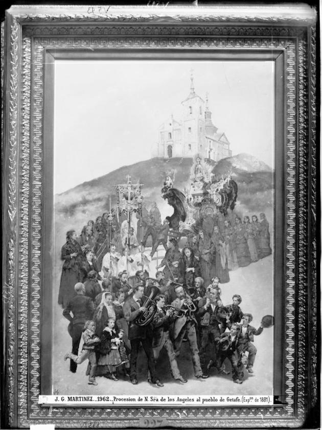 J. Laurent y Cía. Procesión de la Virgen de los Ángeles al pueblo de Getafe de J.G. Martínez. Archivo Ruiz Vernacci. foto: IPCE