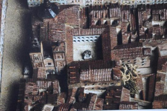 Convento de la Trinidad Calzada de Madrid en la maqueta de León Gil de Palacio. Museo de Historia.