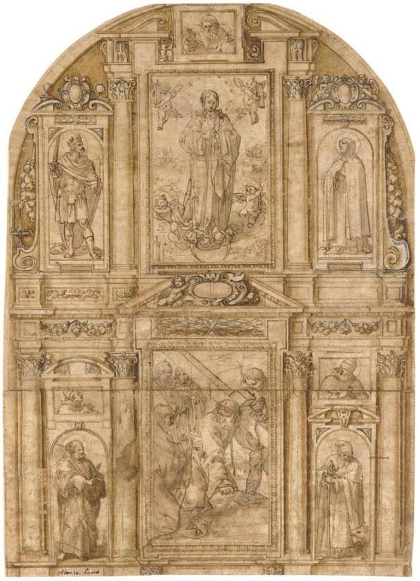 Alonso Cano. Traza para retablo. Col particular.