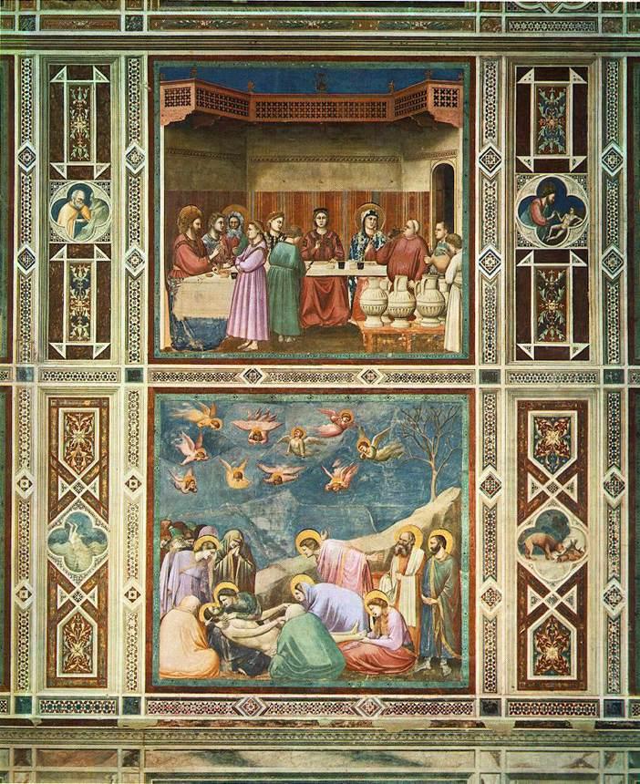 Giotto di Bondone. Frescos de la capilla Scrovegni. Padua.