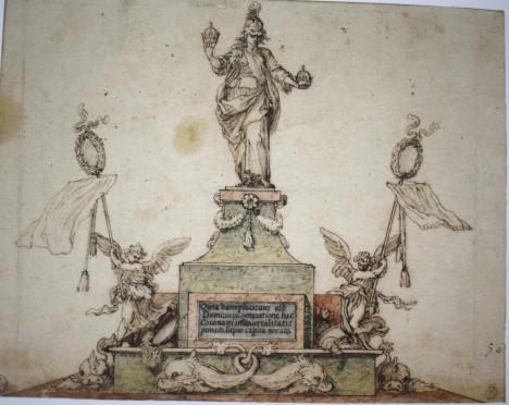 Sebastián de Herrera Barnuevo. Atenea. Gabinete de dibujos y estampas de la Galería Uffizi. Florencia.