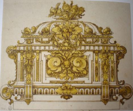 Sebastián de Herrera Barnuevo. Urna. Gabinete de dibujos y estampas de la Galería Uffizi. Florencia.
